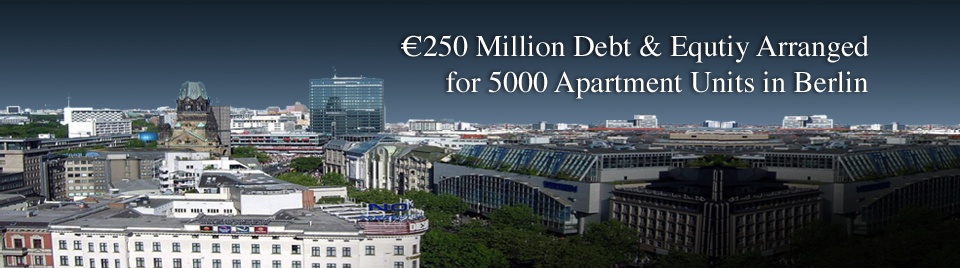 €250 Million Debt & Equtiy Arranged for 5000 Apartment  Units in Berlin